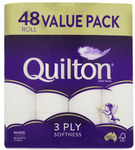 Quilton 3 Ply Toilet Tissue 48 Pack $19 @ Coles