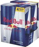 Red Bull Energy Drink 4x250ml $5.27 (VIC, TAS) $5.65 (Other States) @ Woolworths
