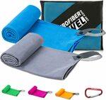 YESDEX 2-Pack Microfiber Gym Sport Towel, Grey+Blue $9.99 + Post ($0 Prime/ $39 Spend) @ Yesdex Amazon AU