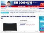 """Toshiba 40LV800A 40"""" Full HD LCD 50hz $398 The Good Guys"""