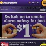 $1 Smoke Alarm Battery from Battery World