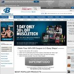 30% off on MuscleTech Products from BodyBuilding.com (One Day Only)