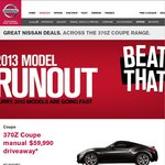 Nissan 370Z Coupe Manual $59,990 Driveaway, Almost $13,000 off