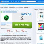 IObit Malware Fighter Pro 2 - 12 Months License FREE (Req Facebook Like OR Short Survey)