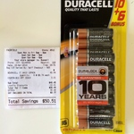 Duracell 16pk AA Alkaline Batteries $6.74 @ Coles