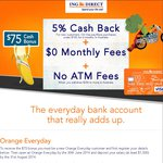 ING Direct FREE $75 for New Orange Everyday Customers+ 5% Cashback on PayWave for 6 Months