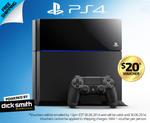 PlayStation 4 $468 + $20 Dick Smith Voucher + $0 P/H @ CatchOfTheDay