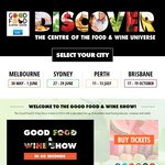 2 for 1 Good Food and Wine Festival Perth