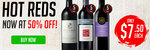 Hot Reds: 5-Star Winery Red Wines for $7.50/Bottle, $88/12 Bottles (50% OFF) @ Wine Sale