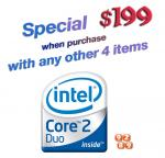 $199 - Intel Core 2 Duo E8400: When Purchase with Any Other 4 Items