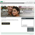 Specsavers 50% off All Contact Lenses Plus Shipping (24 Hours Only)
