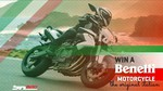 Win a Benelli Motorcycle Valued at $9,990