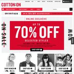 Up to 70% off - Cotton On Group (excludes Typo)