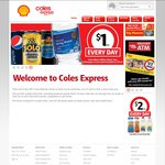 Frozen Coke Junior $0.80, Large $1.50, Jumbo $2, Free Coffee with Any Newspaper @ Coles Express