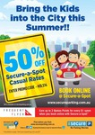 50% off Secure Parking (Secure-a-Spot Casual Parking)