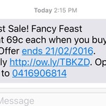 Petbarn - Fancy Feast Cans $0.69 Each When You Buy 48 Cans