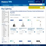 40% off Selected Decorative Lighting at Masters