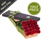 24 Red Roses, $44.95 (Half Price) + Delivery @ FreshFlowers.com.au, NSW Metro Only