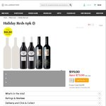 34 Wines @ Cellarmasters eg. 42% off Halliday Reds 6pk $99 ($16.50/bt) + $1.20 Click&Collect [Less with 25%/$50/$100 off Codes]