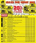 JB Hi-Fi One Night Sale 28/29 July 6-10pm