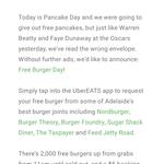 UberEATS Free Burgers (Adelaide) - $5 Booking Fee Applies