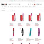 4 Maybelline Mascaras or Lipsticks for $20, Eyeshadow Palettes $12 Free Click and Collect @ Myer (Limited Stock)