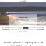 Free Cyclone LED with Every $500 Amount Spent on Vehicle Lighting with 4x4 Hub