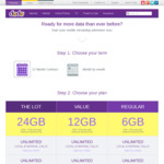Dodo (Optus Network) Double Data 12 Month Contract - 6GB $239 (19.90/Mth), 12GB $359, 24GB $479