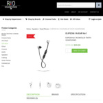Elipson No1 in-Ear Bluetooth Headphones - $99 (Last Sold @ $149; RRP @ $199) + Free Shipping @ RIO Sound and Vision