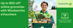 Woolworths Online $170/ $240/ $350 eVouchers for $150/ $200/ $300 (Save $20/ $40/ $50) @ Woolworths eBay