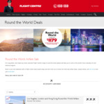 EOFY Virgin Round The World from Economy $1195 Premium Economy $3145 Business $5999 with Virgin @ Escape Travel