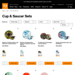 T2 Tea Sale - Selected Range of Cup and Saucer Sets Now $20