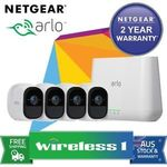 NetGear Arlo Pro Smart Security System with 4 Cameras (VMS4430) Au Stock $711.55 Delivered @ eBay Wireless1