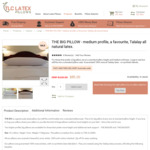 TLC 'The Big' Latex Pillow at $65.00 (RRP $129.00) with FREE Shipping from TLC Latex Pillows