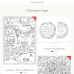 $5 off Voucher for Bible Colouring In Pages @ Sweet Honeycomb