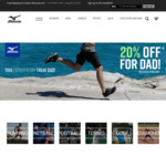 20% off Selected Mizuno Shoes for Fathers Day