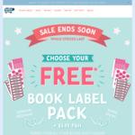 Book Label Pack $3.99 Delivered @ Hippo Blue