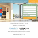 Win a Clearlight Premier IS-2 Infrared Sauna Worth $6,449 or 1 of 15 Minor Prizes Worth $1,000 from Clearlight
