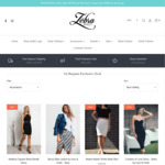 Extra 50% off Selected Items of Womens Clothing + Shipping or Free for Orders over $75.00 @ The Zebra Effect