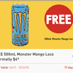 Free 500ml Monster Mango Loco via 7/11 App