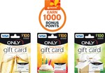 Woolworths 1000 Points (Worth $5) for Only1 $100 Visa Cards + $6.95 Fee