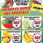 [QLD] Bananas $0.48 kg, KP Bowen Mangoes $0.48 Each, Watermelon $0.48 Per kg @ Northside Discount Fruit Barn (Rothwell)