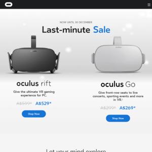 Oculus Rift VR System $529, Oculus Go $269 (Delivered