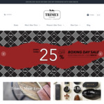 TRIMLY | 25% off Everything Boxing Day Sale - Cedar Shoe Trees & Shoe Care Accessories