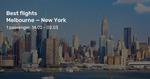 New York on Virgin Australia from MEL/SYD/BNE/More from $1046/ $1057/ $1061/ $1200 Return (Feb-Aug)