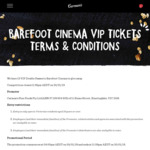 Win 1 of 12 VIP Double Passes to Barefoot Cinemas Worth $91.67 Each from Carman's [VIC Residents]