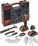 Black & Decker Hammer Drill and Hand Tools Kit 18V - $20 (Click and Collect) @ Supercheap Auto
