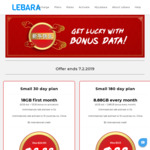 Lebara Lunar New Year Prepaid Plans: 8.88GB P/Mth for 180 Days + Unlimited Talk/Text to 10 Countries for $88