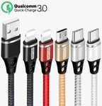 Quick Charging USB Cables (Either Lightning, Micro USB, Type C) US $2.00 ~ (AU $3.15) Delivered @ Cuagain Store via AliExpress