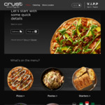 $10 off $40+ Spend at Crust Pizza